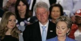 Chelsea, Bill & Hillary Clinton
